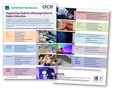 Cambridge Technicals University Options Poster