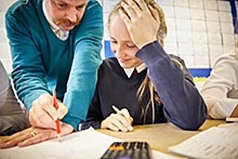 GCSE maths student