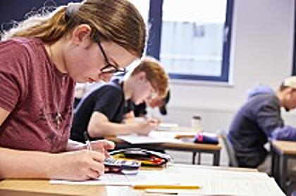 A Level Maths students working