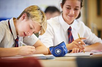 GCSE Maths students working