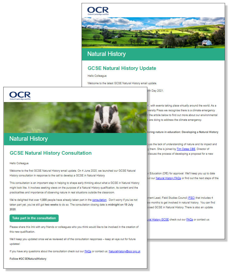 Examples of NH newsletters